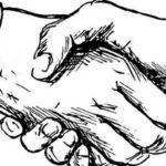 De hand die…